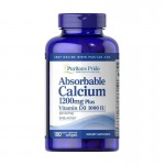 Absorbable Calcium 1200mg + vit. D3 (100 caps.) PURITANS PRIDE