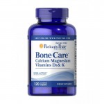 Bone Care -Calcium Magnesium Vitamin D3, K, Sodium (120 tabs.) Puritan's Pride