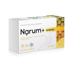 Narum + Pineapple 200 mg (30 caps.) PROBIOTIC LACTOBACILLUS ACIDOPHILUS Narine VITAWAY