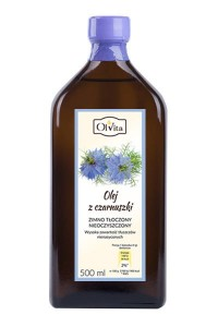 Black cumin oil cold pressed 500ml nigella seeds Olvita Poland