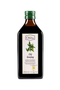 Hemp oil 250 ml - cold pressed - OLVITA Poland