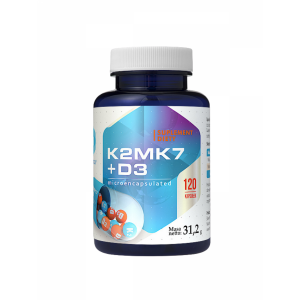 Vitamins k2-mk7 104mcg D3 2000iu Micro Encapsulated (120 caps.)Hepatica