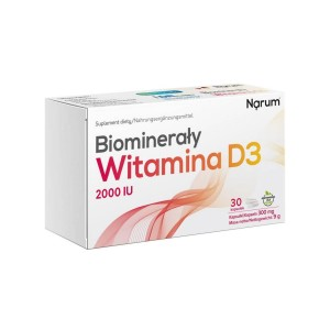 BioMinerals Calcium Vitamin D3 2000iu (30 caps.) Narum