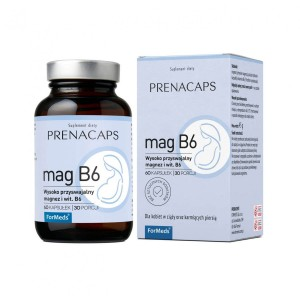 PrenaCaps - pregnant -Mag B6 Highly Absorbable Magnesium (60 caps.) Formeds