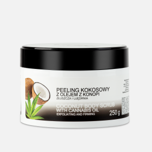 Coconut Body Scrub with Cannabis Oil (250ml) India Cosmetics Poland