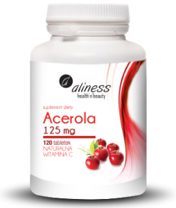 Acerola 125mg Natural Vitamin C (120 tabs.) Aliness Poland