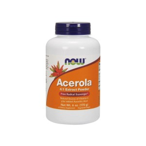 Acerola Extract 4: 1 Powder 170 g Vitamin C Now Foods