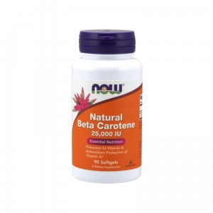 Natural Beta Carotene 25,000 IU (90 sgels) Vitamin A Now Foods
