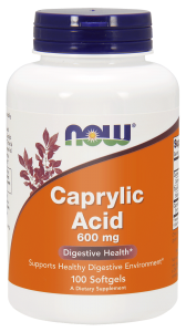 Caprylic Acid 600 mg (100 caps) Now Foods