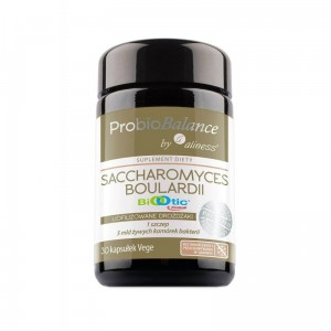 "ProBioBalance Saccharomyces Boualardii 5 billion / 250mg ""probiotic"" (30 vege caps.) Aliness Poland"