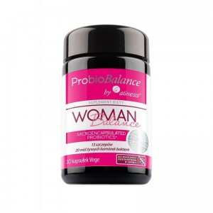 "ProBioBalance Woman Balance 20 billion. ""probiotic"" (30 vege caps.) Aliness Poland"