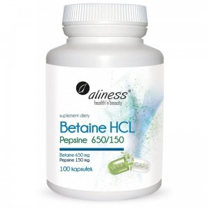 Betaine HCL, Pepsin 650/150 mg (100 caps.) Aliness