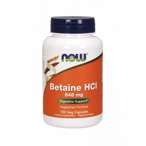 Betaine HCl 648mg (120 Veg Capsules) Now Foods