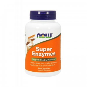 Super Enzymes 90 Caps. - Supports Healthy Digestion - Now Foods