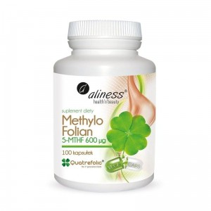 Methylo Folate 5-mthf 600 μg  (100 Vege caps.) Aliness