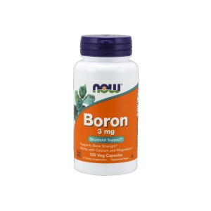 Boron 3 mg (100 Veg Capsules) - Structural Support - NOW FOODS