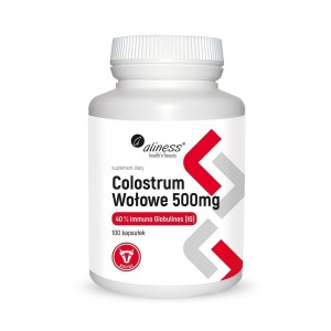 BOVINE COLOSTRUM 40% IMMUNOGLOBULIN 500mg (100 caps.) ALINESS