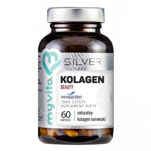 Beauty Norwegian Collagen Pure 100% (60 / 120 caps.) Biotin Skin Q10 Silver MyVita Poland
