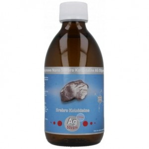 "Nano-ionic Silver Coloidal (AG 50PPM) ""Strong"" 300ml Vitacolloids"