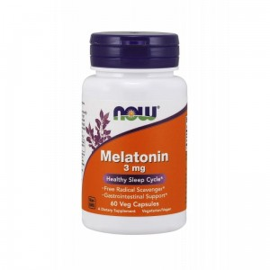 "Melatonin 3 mg ""Healthy Sleep Cycle"" (3 x 60 Veg Caps.) NOW FOODS"