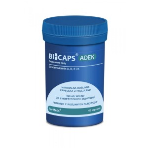 BICAPS ADEK Natural  Set of Vitamins - No Chemical Additives - (60 caps ) FORMEDS Poland
