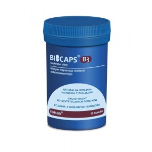 "BICAPS Vitamin B3 Niacin 500mg 'supports the nervous system"" (60 caps.) ForMeds Poland"