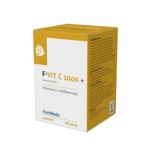 F-VIT C 2000+ Vitamin C + Bioflavonoids Citrus Powder (126g) - 60 servings -  ForMeds Poland