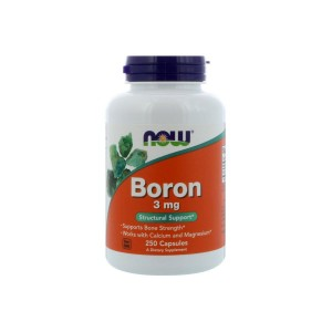 Boron 3 mg (250 Capsules) - Structural Support - NOW FOODS (1)