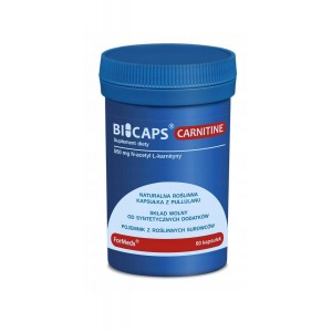 BICAPS Carnitine N-Acetyl-L-Carnitine 550mg Amino ACIDS (60 caps.) FORMEDS Poland