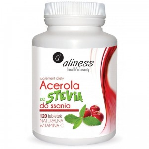 Acerola with Stevia to suck (120 tabs.) Aliness