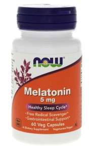 MELATONIN 5 mg (60 vege caps) Healthy Sleep Cycle / NOW FOODS