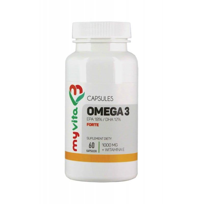 Omega 3 Forte 1000mg EPA 18% / DHA 12% + Vitamin E (60..